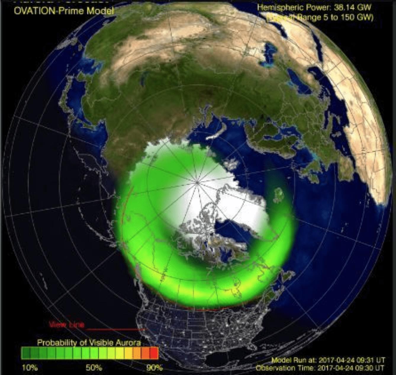 Viajes para ver la aurora boreal