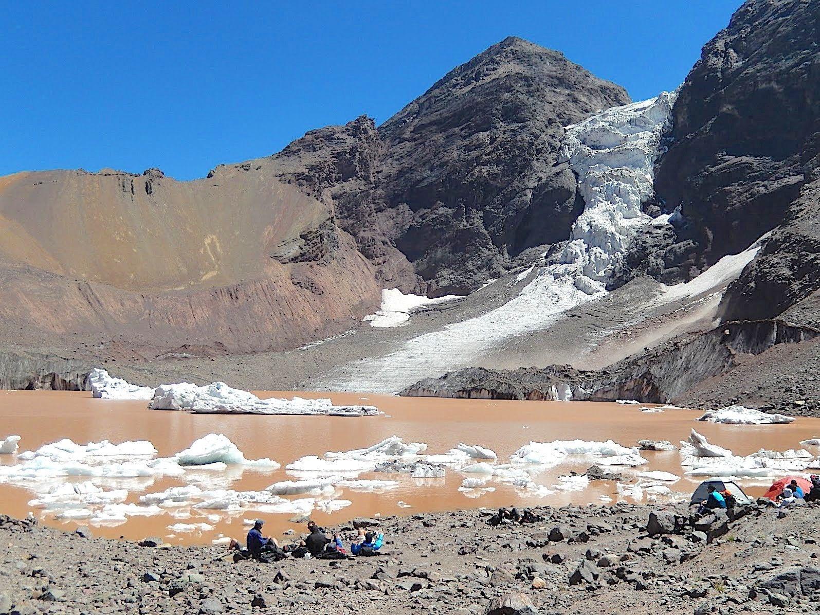 Glaciar colgante El morado